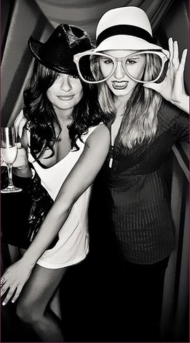 Lea Michele and Dianna Agron wallpaper possibly with a fedora called ♥