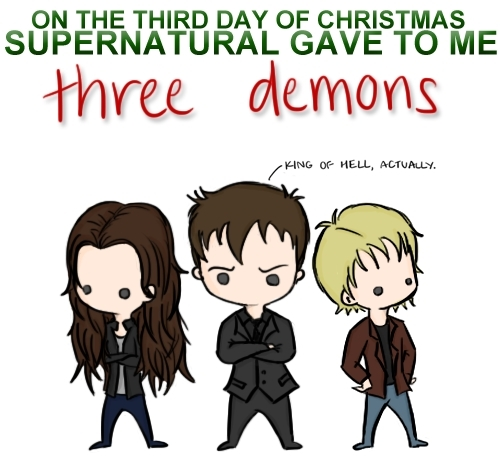 Supernatural wallpaper probably with anime called 12 Days of Christmas - SPN Style