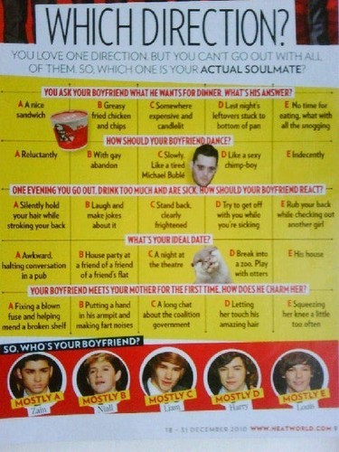 1D = Heartthrobs (Find Out Who's Ur Soulmate From 1D) 100% Real :) x