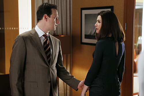 The Good Wife wallpaper with a business suit, a suit, and a three piece suit called 2x14 - Net Worth - Promotional Photos
