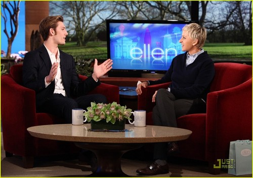 Alex Pettyfer wallpaper possibly with a business suit called Alex on Ellen show