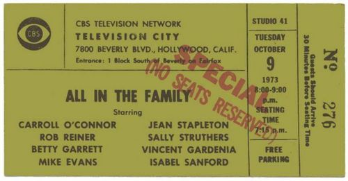 All in the Family Ticket