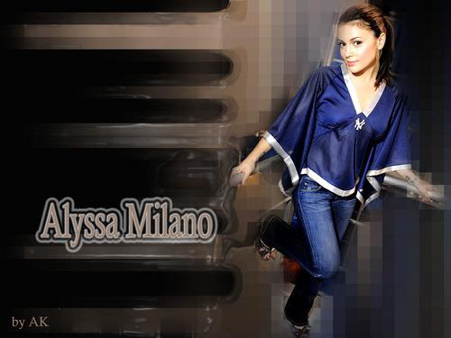 Alyssa Milano پیپر وال