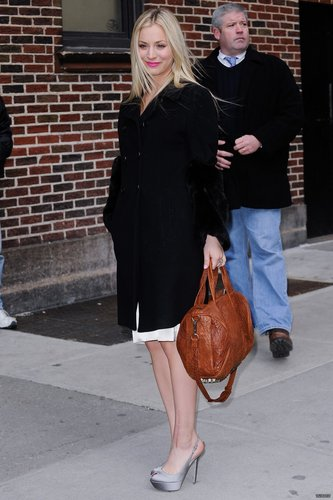 Arriving at the Late mostra with David Letterman