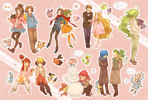 B/W characters' winter outfit ~