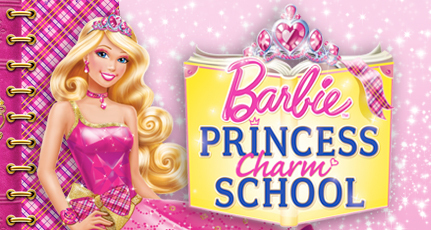 Barbie Movies wallpaper possibly containing anime titled Barbie Princess Charm School!