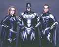 Batgirl, Batman, & Robin