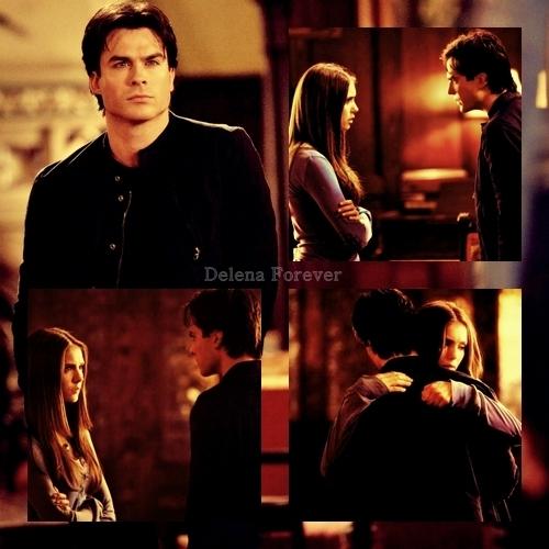 Damon & Elena hug!! xD