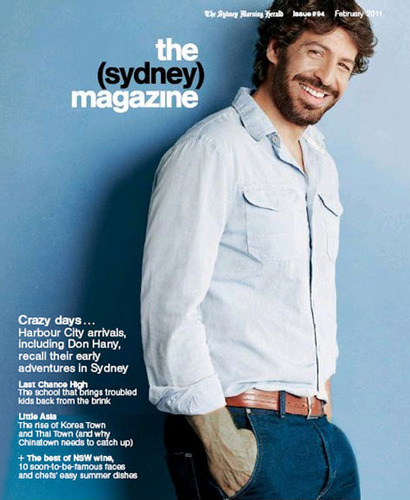 Don on the front cover of the Sydney Magazine