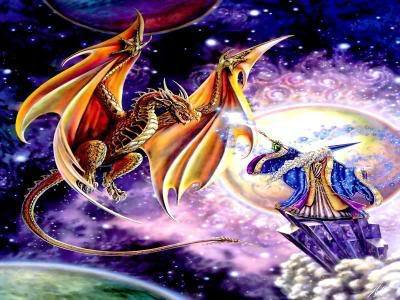 Dragon and Wizard