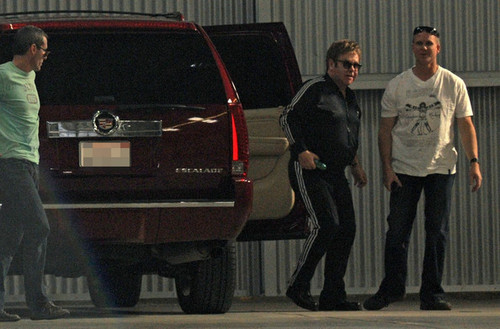 Elton John Arrives at দুধ Studios