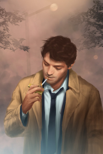 Castiel वॉलपेपर possibly containing a well dressed person and a business suit entitled प्रशंसक art