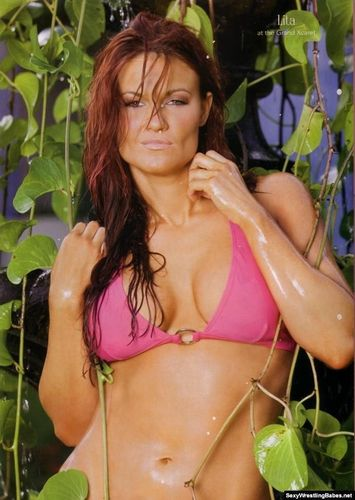 "Amy ""Lita"" Dumas Hintergrund with a bikini entitled Free-Spirited Lita"