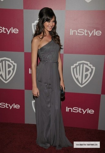 Odette Yustman wallpaper possibly with a dinner dress called Golden Globes Party [2011]
