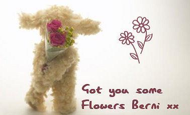 Got tu some flores Berni :)
