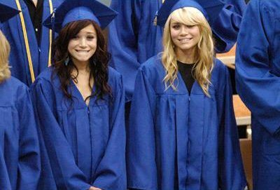 Mary-Kate & Ashley Olsen wallpaper with an academic gaun titled Graduating