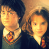 Harry and Hermione photo with a bearskin and a portrait called Harry&Hermione