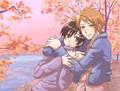 Haruhi and Hikaru hug