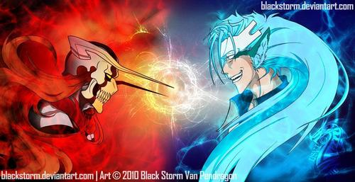 Hollow Ichigo vs. Released Grimmjow