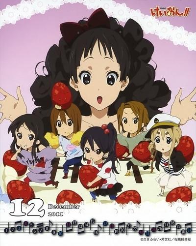 K-ON! Calendar December 2011