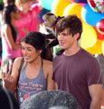LaRimes on set of 90210 - shenae-grimes-and-matt-lanter photo