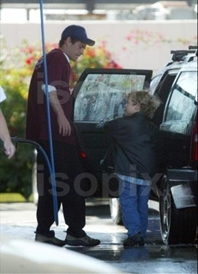 Luke Perry and his son Jack