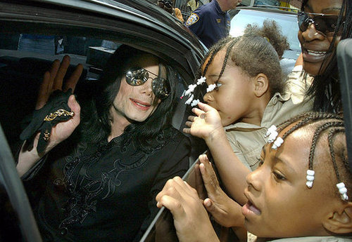 Michael Jackson in a limo