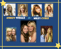 Miley and Ashely - miley-cyrus-and-hannah-montana-lovers wallpaper