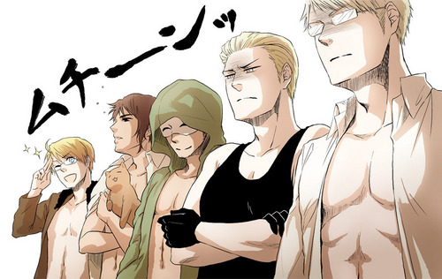 Hetalia wallpaper possibly with anime called Muscular's meme? o_o
