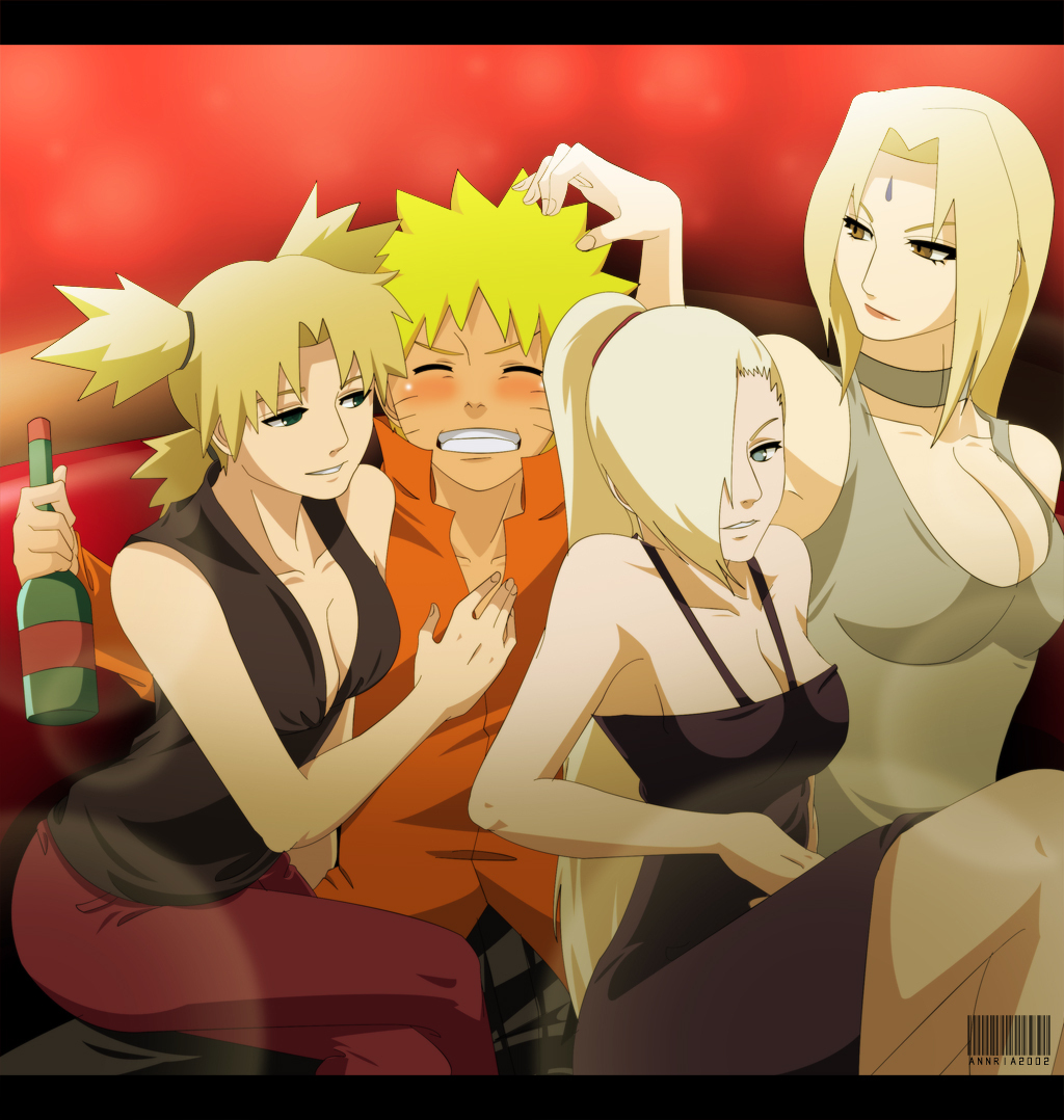 Naruto With Temari Ino And Tsunade Shippuuden
