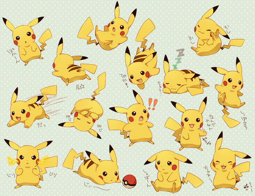 Pikachu's emotion - pokemon Fan Art