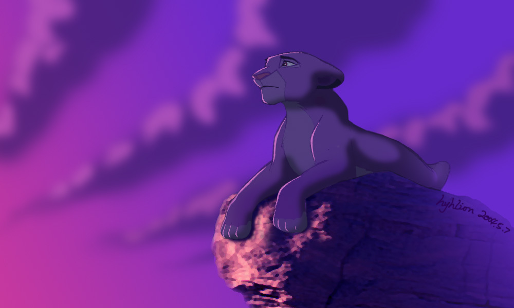 Purple purple loneliness