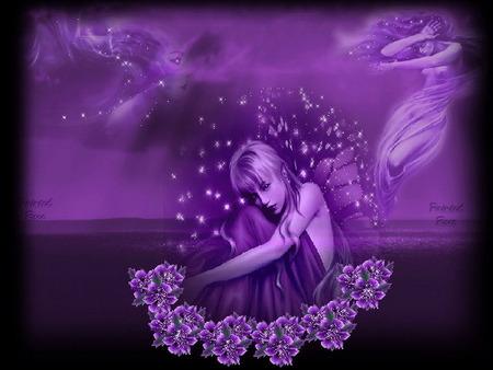 Purple দেওয়ালপত্র titled Purple