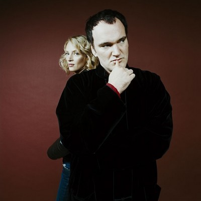 Quentin Tarantino wallpaper possibly with a well dressed person and a business suit titled Quentin and Uma Thurman
