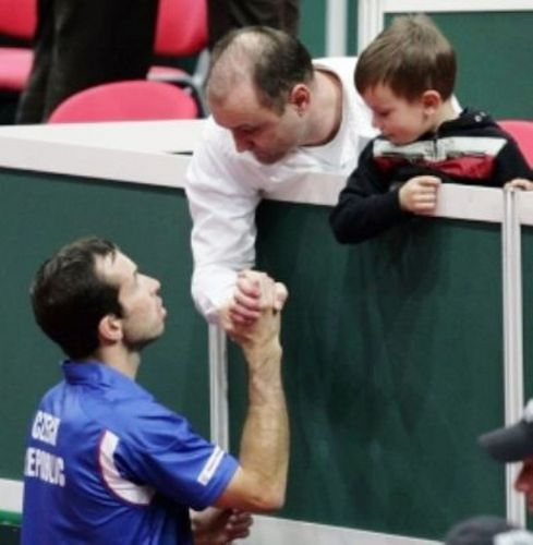 Radek Stepanek and his brother