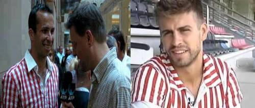 Radek Stepanek is wearing the same overhemd, shirt as Gerard Piqué !