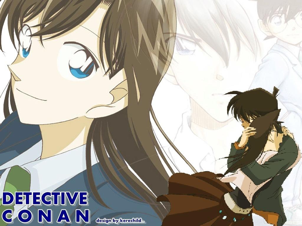 Detective Conan Couples hình nền possibly containing anime called Ran x Shinichi