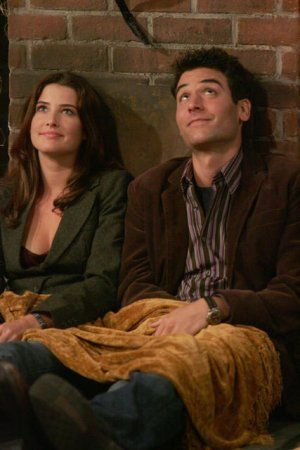 Robin Scherbatsky wallpaper containing a street entitled Robin and Ted