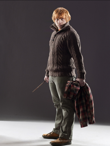 Ron (jacket off) in Deathly Hallows