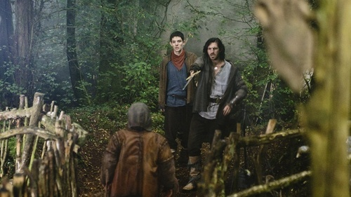 Merlin on BBC wallpaper possibly with a horse trail, a bridle path, and a horse wrangler called Season 3 Promotional Photo