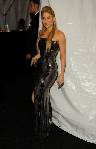 Shakira: excessively withdrawn passport in corset.................