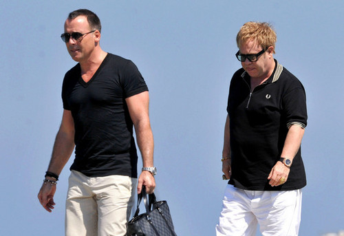 Sir Elton in Saint Tropez