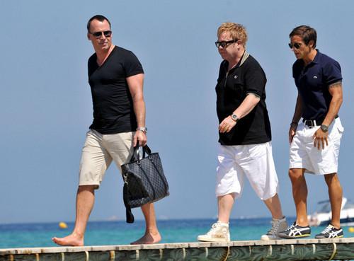 Sir Elton in Saint Tropez