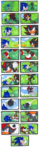 Sonic VS Shadow Comic