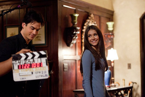 The Descent (EP212) behind the scenes pic: Ian & Nina