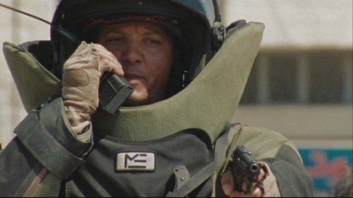 Jeremy Renner wallpaper with a green beret, a rifleman, and a navy seal titled The Hurt Locker