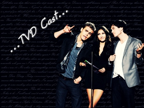 The Vampire Diaries wallpaper possibly with a sign titled The Vampire Diaries cast *__*