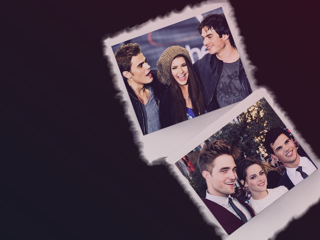 Twilight and Vampire Diaries cast