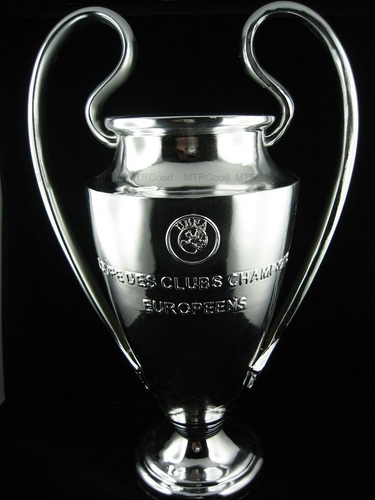 UEFA CHAMPIONS LEAGUE TROPHY REPLICA SILVER PAINTED