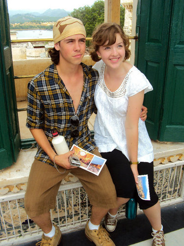 munro and aislinn in india